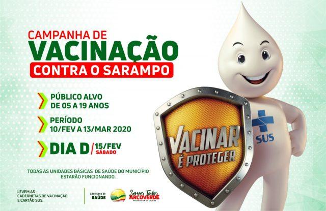 Arcoverde: Vacinação contra o Sarampo / Arte: Robson Lima